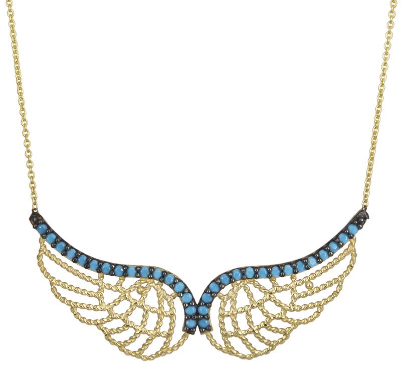 Χρυσό κολιέ φτερά Κ14 022563 022563 Χρυσός 14 Καράτια