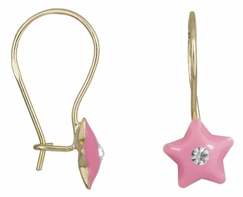 Παιδικά σκουλαρίκια Κ9 αστεράκια 022568 022568 Χρυσός 9 Καράτια