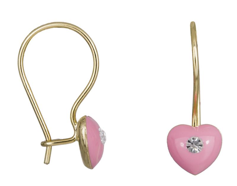 Κρεμαστά σκουλαρίκια καρδούλες Κ14 023451 023451 Χρυσός 14 Καράτια