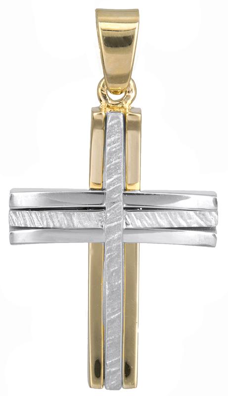 Σταυροί Βάπτισης - Αρραβώνα Ανδρικός σταυρός Κ14 022572 022572 Ανδρικό Χρυσός 14 Καράτια