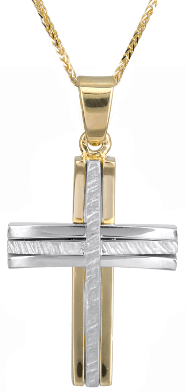 Βαπτιστικοί Σταυροί με Αλυσίδα Ανδρικός σταυρός Κ18 με αλυσίδα C023589 023589C Ανδρικό Χρυσός 18 Καράτια
