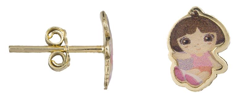 Παιδικά σκουλαρίκια Κ9 022573 022573 Χρυσός 9 Καράτια