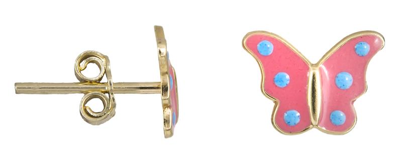 Χρυσά σκουλαρίκια πεταλούδες Κ9 022574 022574 Χρυσός 9 Καράτια