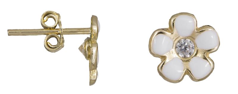 Σκουλαρίκια χρυσά λουλούδι Κ14 023457 023457 Χρυσός 14 Καράτια
