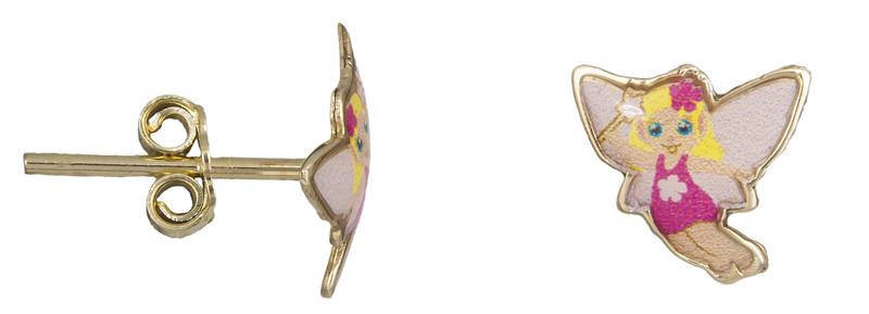 Σκουλαρίκια παιδικά νεραϊδούλες Κ9 022579 022579 Χρυσός 9 Καράτια