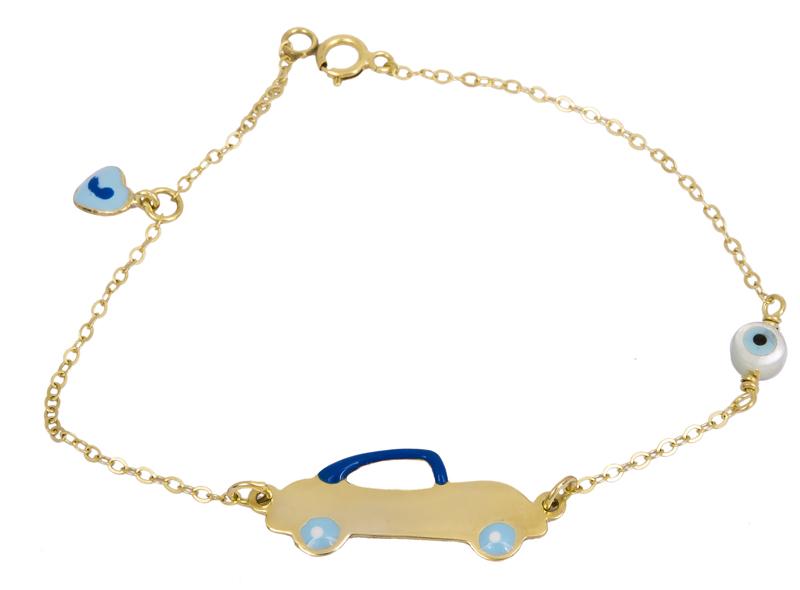 Παιδική ταυτότητα αυτοκινητάκι Κ9 022588 022588 Χρυσός 9 Καράτια