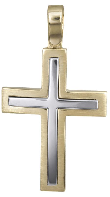 Σταυροί Βάπτισης - Αρραβώνα Αντρικός κλασικός σταυρός 14Κ 022622 022622 Ανδρικό Χρυσός 14 Καράτια