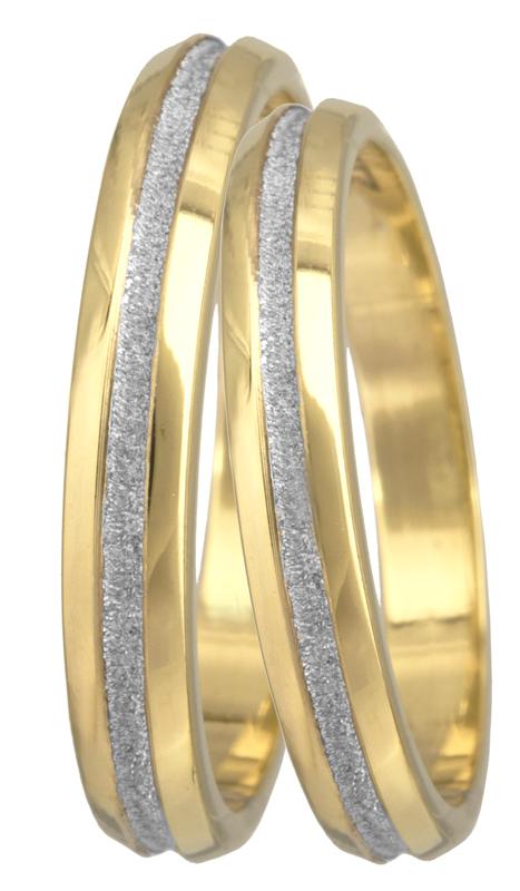 Δίχρωμες βέρες Κ14 022684 022684 Χρυσός 14 Καράτια