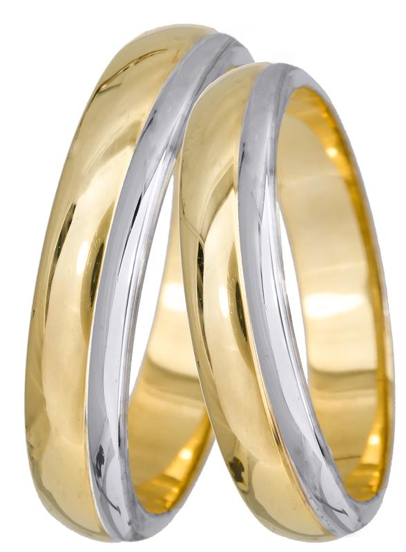 Δίχρωμες βέρες αρραβώνα Κ14 022690 022690 Χρυσός 14 Καράτια