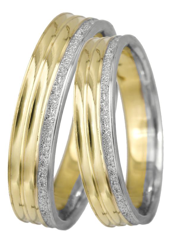 Βέρες γάμου δίχρωμες Κ14 022691 022691 Χρυσός 14 Καράτια μεμονωμένο τεμάχιο dddea1eaeac