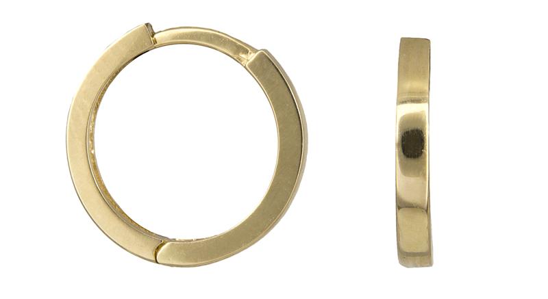 Χρυσοί πλακέ κρίκοι Κ14 022789 022789 Χρυσός 14 Καράτια χρυσά κοσμήματα σκουλαρίκια κρίκοι πάχος 3 0   4 0 mm