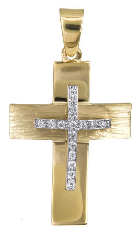 Σταυροί Βάπτισης - Αρραβώνα Κλασικός γυναικείος σταυρός Κ14 022812 022812 Γυναικείο Χρυσός 14 Καράτια