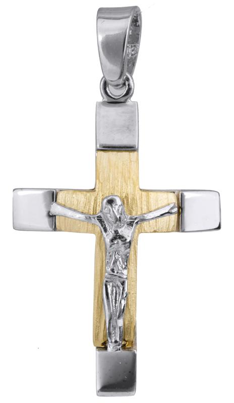 Σταυροί Βάπτισης - Αρραβώνα Σταυρός βάπτισης με τον Εσταυρωμένο Κ14 022816 022816 Ανδρικό Χρυσός 14 Καράτια