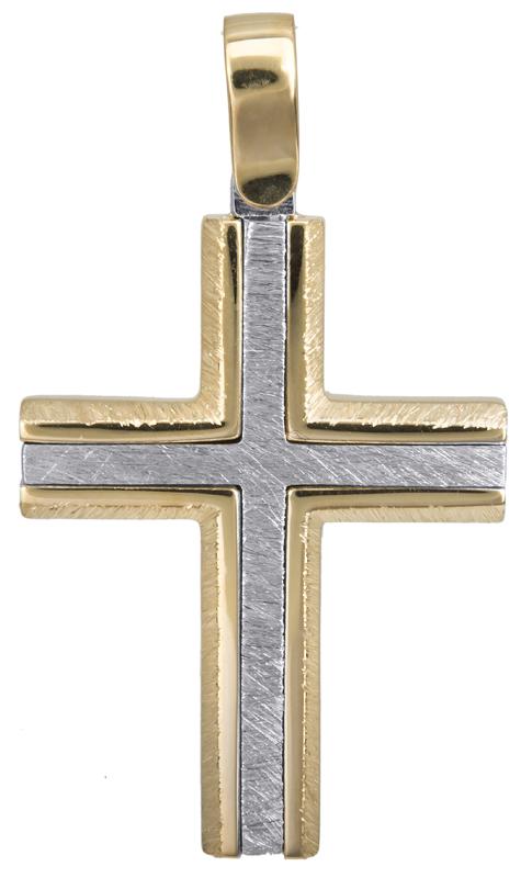 Σταυροί Βάπτισης - Αρραβώνα Κλασικός αντρικός σταυρός Κ14 022825 022825 Ανδρικό Χρυσός 14 Καράτια
