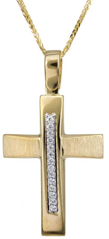 Βαπτιστικοί Σταυροί με Αλυσίδα Σταυρός βάπτισης με αλυσίδα 14Κ C022834 022834C Γυναικείο Χρυσός 14 Καράτια