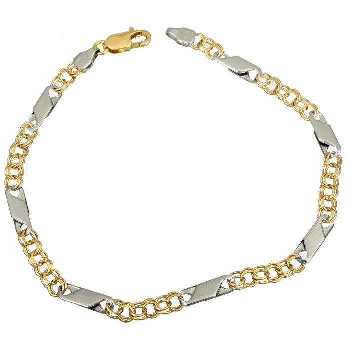Ανδρική αλυσίδα για το χέρι 022853 022853 Χρυσός 14 Καράτια