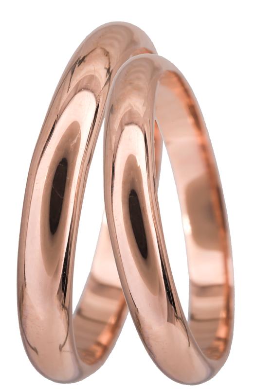 Ροζ gold βέρες γάμου Κ14 022860 022860 Χρυσός 14 Καράτια