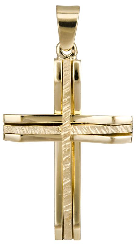 Σταυροί Βάπτισης - Αρραβώνα Χρυσός ανδρικός σταυρός Κ14 022875 022875 Ανδρικό Χρυσός 14 Καράτια