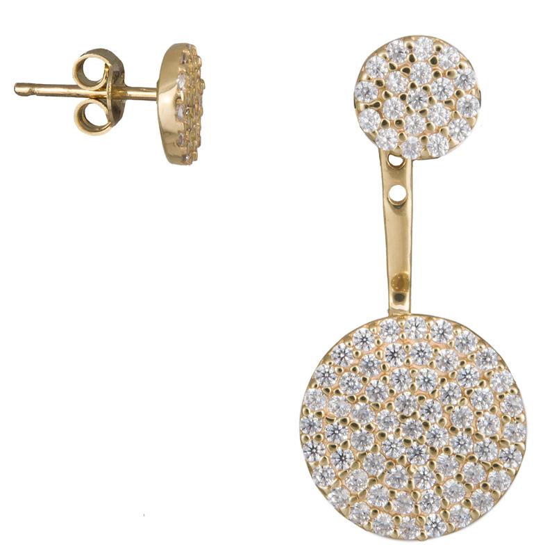 Χρυσά σκουλαρίκια Κ14 022895 022895 Χρυσός 14 Καράτια