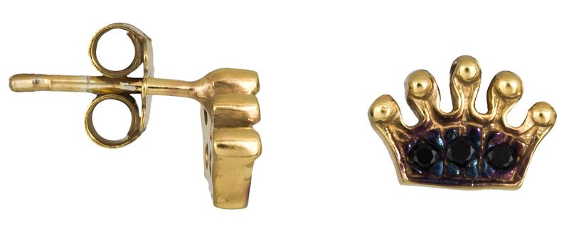 Επίχρυσα σκουλαρίκια κορώνες 925 022928 022928 Ασήμι
