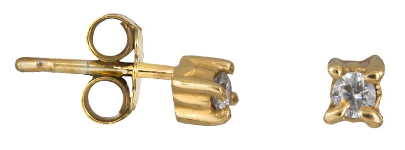 Επίχρυσα σκουλαρίκια με ζιργκόν 925 022929 022929 Ασήμι
