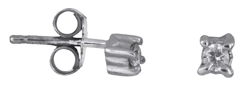 Ασημένια σκουλαρίκια με ζιργκόν 925 022930 022930 Ασήμι