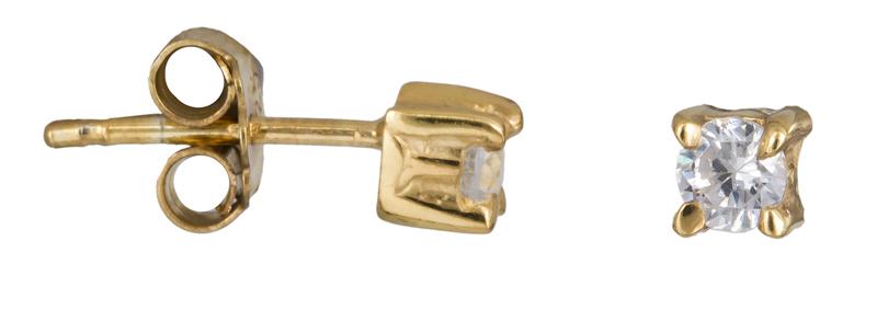 Επίχρυσα σκουλαρίκια με πέτρες 925 022931 022931 Ασήμι