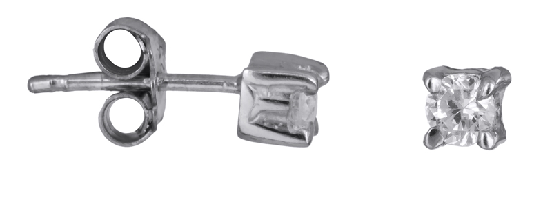 Ασημένια σκουλαρίκια με πέτρες 925 022932 022932 Ασήμι