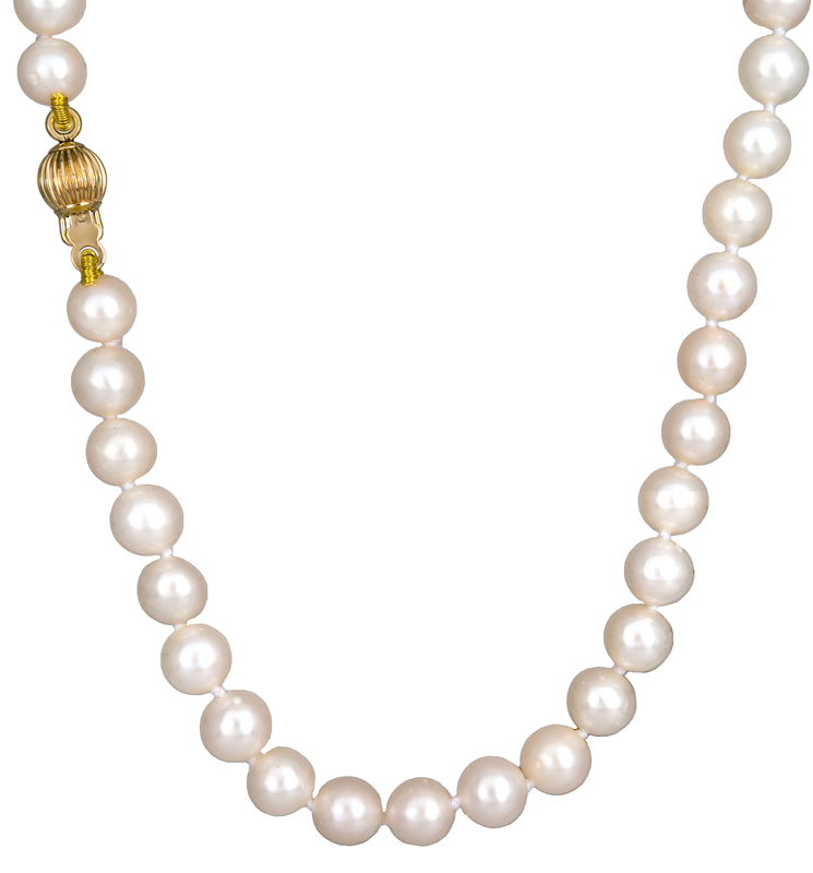 Γυναικείο κολιέ με μαργαριτάρια 023011 023011 Χρυσός 14 Καράτια