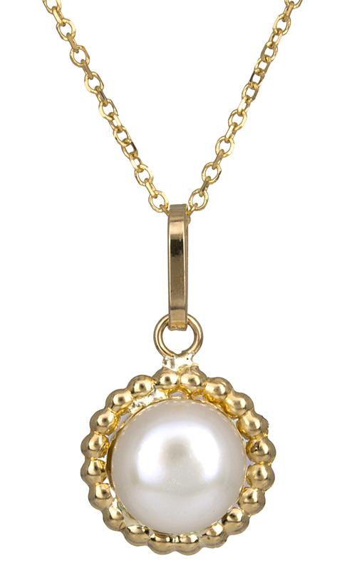 Γυναικείο κολιέ με μαργαριτάρι K14 023032 023032 Χρυσός 14 Καράτια