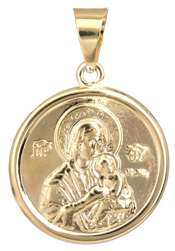 Χρυσό φυλαχτό για μωράκι Κ14 023050 023050 Χρυσός 14 Καράτια χρυσά κοσμήματα κωνσταντινάτα   φυλαχτά