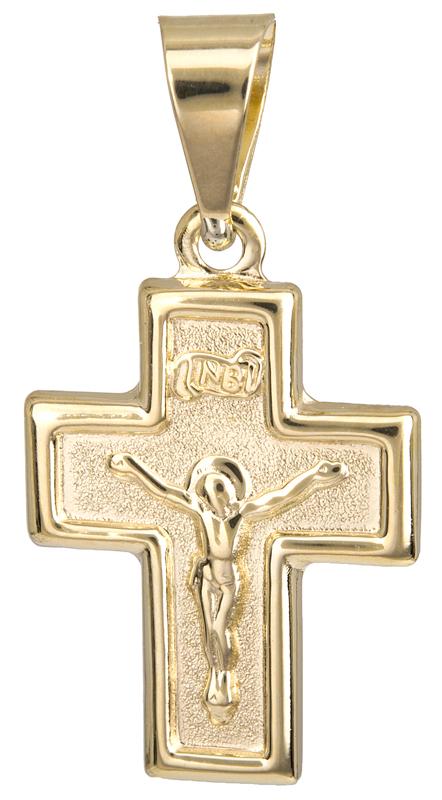 Χρυσό φυλαχτό σταυρουδάκι Κ14 023054 023054 Χρυσός 14 Καράτια
