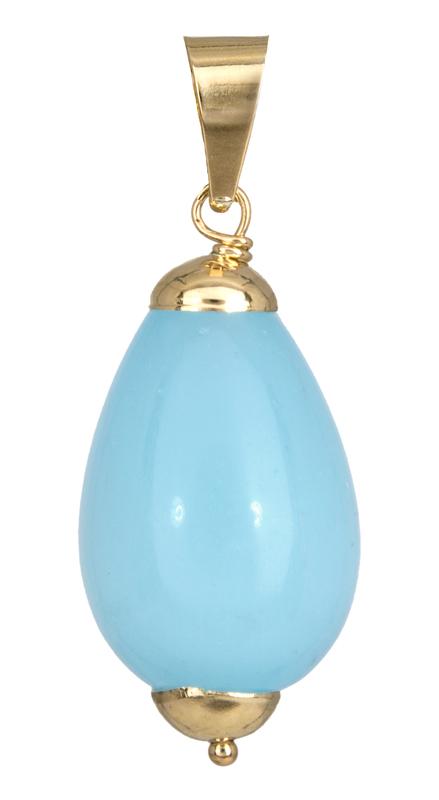 Χρυσό κρεμαστό με τυρκουάζ quartz 14Κ 023056 023056 Χρυσός 14 Καράτια