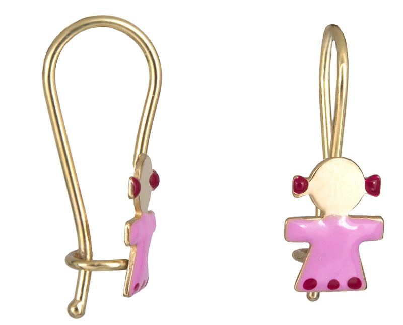 Χρυσά παιδικά σκουλαρίκια Κ9 023066 023066 Χρυσός 9 Καράτια