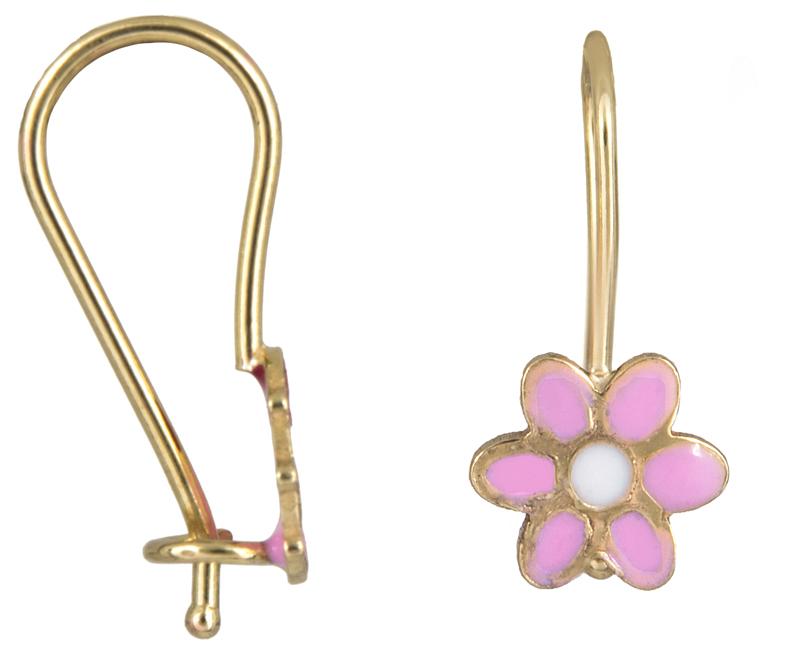 Παιδικά σκουλαρίκια λουλούδι Κ9 023067 023067 Χρυσός 9 Καράτια