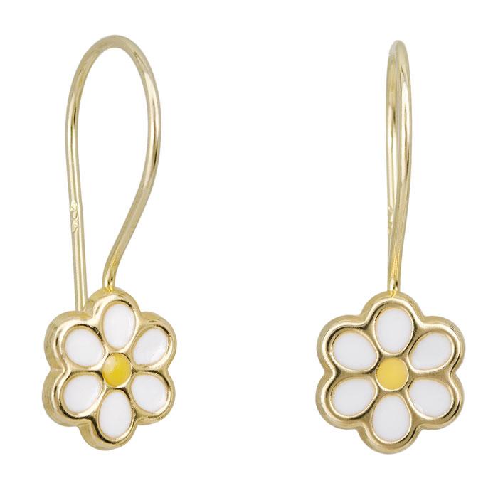 Σκουλαρίκια λουλούδι Κ9 023068 023068 Χρυσός 9 Καράτια