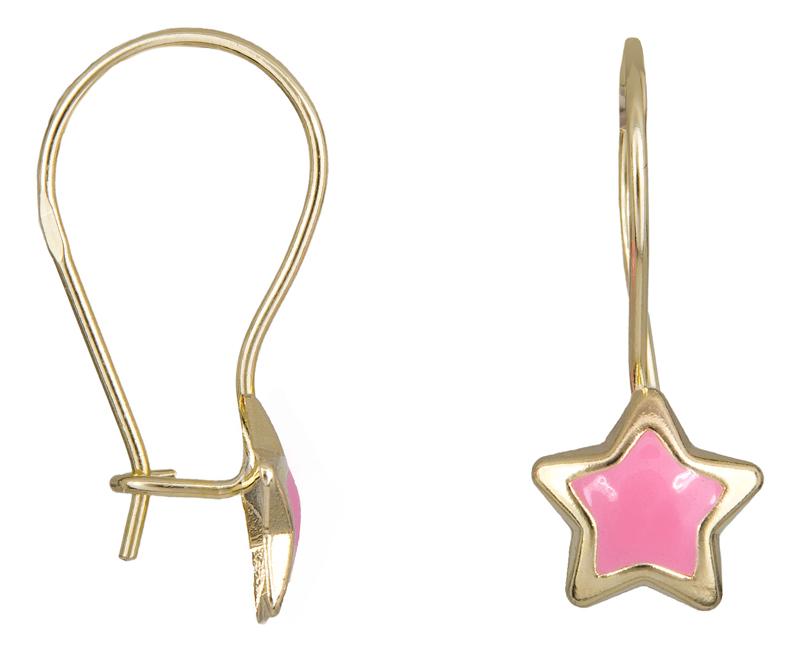 Παιδικά σκουλαρίκια αστεράκια Κ9 023069 023069 Χρυσός 9 Καράτια