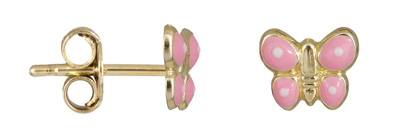 Σκουλαρίκια χρυσά πεταλούδες Κ9 023076 023076 Χρυσός 9 Καράτια