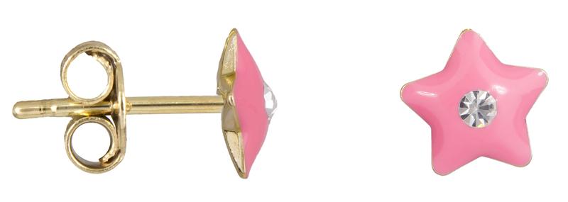 Παιδικά σκουλαρίκια αστεράκι Κ9 023078 023078 Χρυσός 9 Καράτια