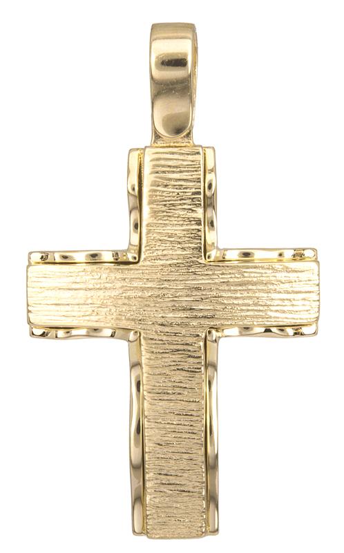 Σταυροί Βάπτισης - Αρραβώνα Σταυρός βάπτισης Κ14 023088 023088 Ανδρικό Χρυσός 14 Καράτια