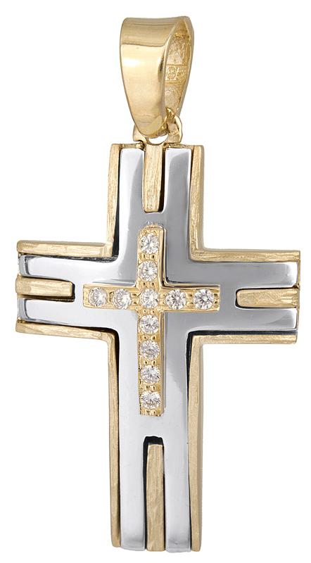 Σταυροί Βάπτισης - Αρραβώνα Γυναικείος σταυρός Κ14 023121 023121 Γυναικείο Χρυσός 14 Καράτια