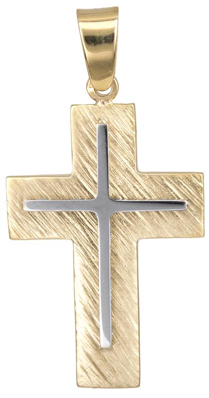 Σταυροί Βάπτισης - Αρραβώνα Σταυρός βάπτισης για αγόρι Κ14 023123 023123 Ανδρικό Χρυσός 14 Καράτια