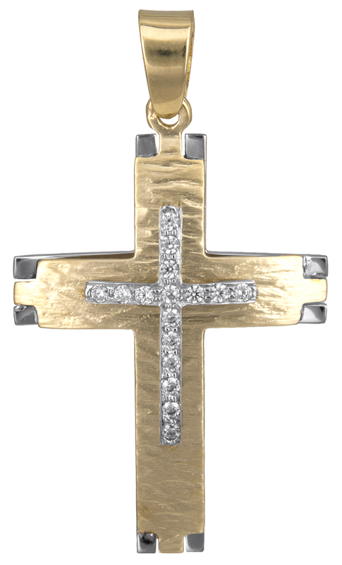 Σταυροί Βάπτισης - Αρραβώνα Βαπτιστικός σταυρός για κορίτσι Κ14 023125 023125 Γυναικείο Χρυσός 14 Καράτια
