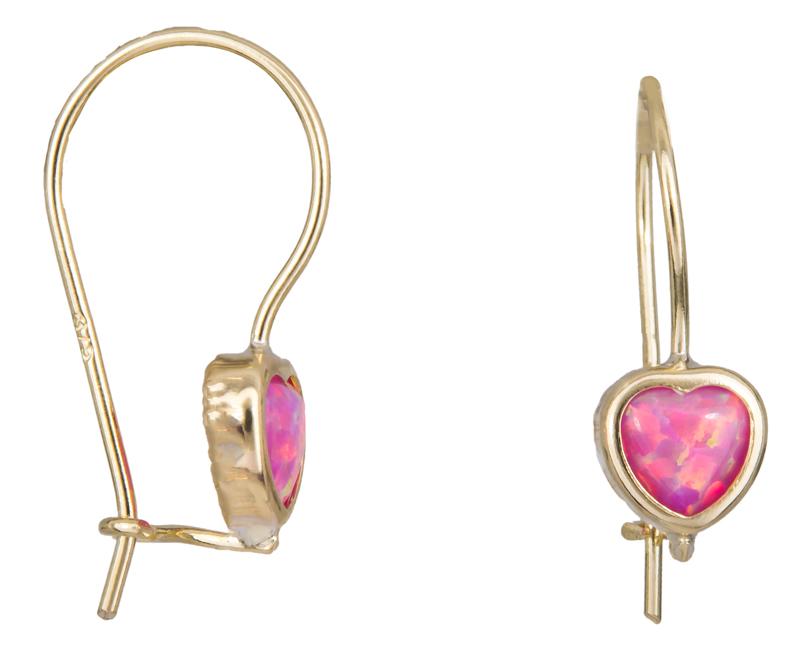 Παιδικά σκουλαρίκια καρδούλες Κ9 023148 023148 Χρυσός 9 Καράτια