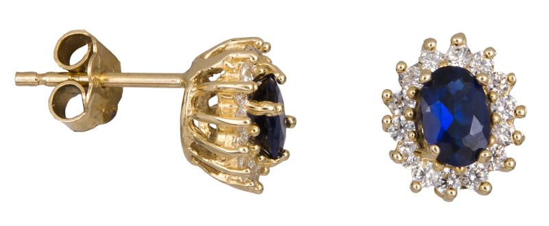 Γυναικεία σκουλαρίκια ροζέτες Κ14 023151 023151 Χρυσός 14 Καράτια