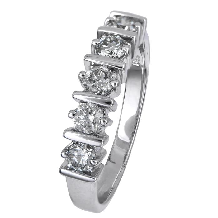 Λευκόχρυσο σειρέ με διαμάντια Κ18 023200 023200 Χρυσός 18 Καράτια χρυσά κοσμήματα δαχτυλίδια σειρέ ολόβερα