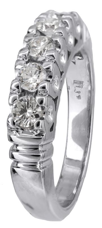 Λευκόχρυσο δαχτυλίδι με διαμάντια Κ18 023201 023201 Χρυσός 18 Καράτια