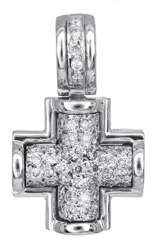 Σταυροί Βάπτισης - Αρραβώνα Λευκόχρυσος σταυρός με διαμάντια Κ18 023247 023247 Γυναικείο Χρυσός 18 Καράτια