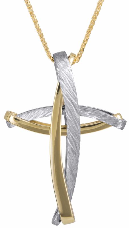 Βαπτιστικοί Σταυροί με Αλυσίδα Αντρικός σταυρός με αλυσίδα Κ14 C023253 023253C Ανδρικό Χρυσός 14 Καράτια