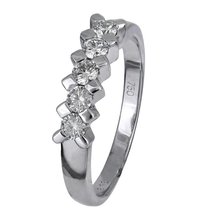 Δαχτυλίδι σειρέ με μπριγιάν Κ18 023263 023263 Χρυσός 18 Καράτια